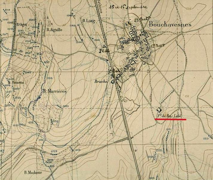 Carte de Bouchavesnes