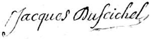 Signature de Jacques du Feichel
