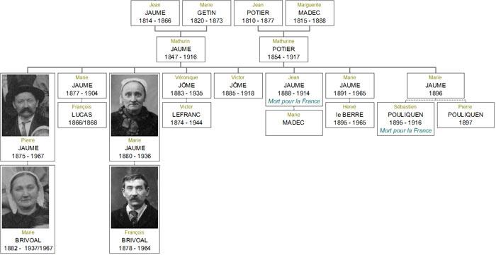 Généalogie Jaume